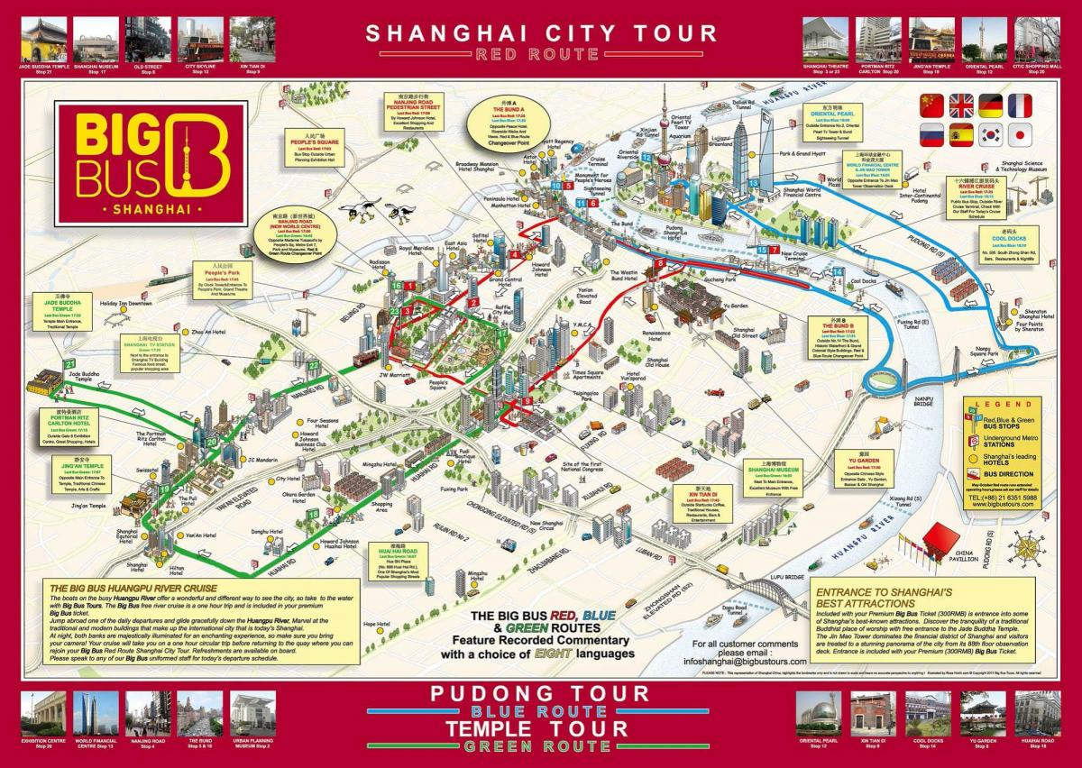 Shanghai map Big Bus